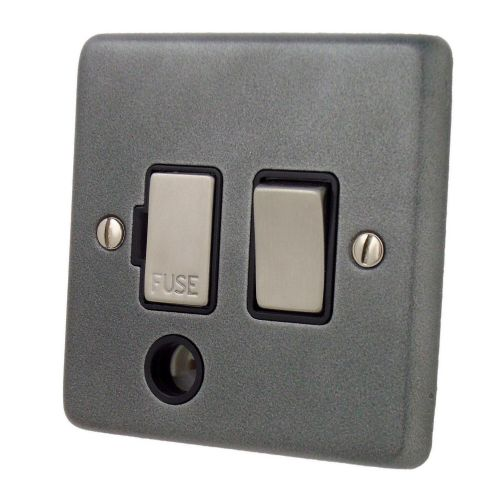 G&H CP356 Standard Plate Pewter 1 Gang Fused Spur 13A Switched & Flex Outlet